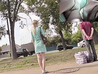 Sneaky panty upskirt footage