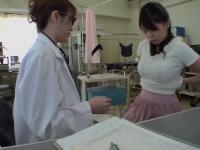 Dildo fuck for hot Jap during her medical examination
