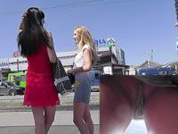 One of the girlfriend filmed on the upskirt camera