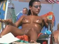 Sweatie Tanned Pussy At Beach By TROC