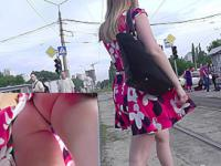 Unforgettable ass upskirt of the pretty young girl