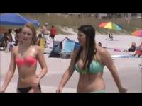 sexy teen with huge tits beach spy 39