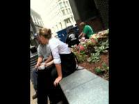 blonde waitress