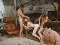 Super hot retro orgy