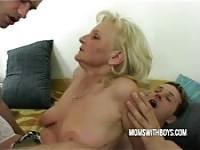 An old woman seduces two college boys