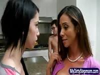 Sharing her boyfriend with her horny mom