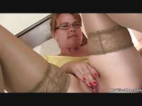He finds her masturbating and offers his help