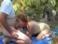Wife and her loved one fucking outdoors