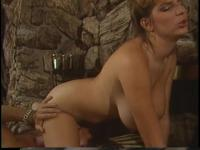 Retro Mindy Rae rides lads face with her constricted twat then bonks