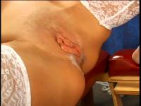Curvy darksome receives her love tunnel licked and drilled from behind