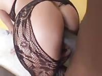 Breaking a mature's tights with his cock