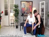 DogHouseDigital Bisexual couple share a guy