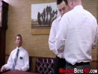 Barebacked mormon cums