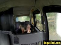 Busty amateur in taxi pussypounded