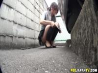 Asian public piss and rub