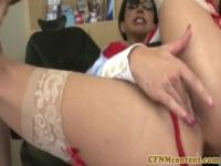 Clothed milfs facialed in cfnm action