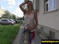 Pickedup eurobabe doggystyle fuck in public
