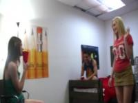 Three extreme young girls enjoying groupsex