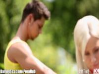 DaringSex Blonde Done Doggystyle Outdoors