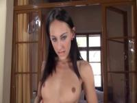 brunette and outdoor fingering hole