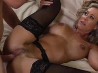 Milf Brandi Love taking part in hardcore sex movie
