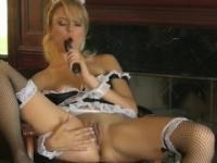 Babe Angelina Armani with hot boobs in masturbating porn movie