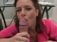 Hot pornstar blowjob sex vid