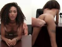 Beauty Olivia is acting in spunk flow sex movie in office