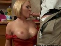 Beauty in blowjob porn scene