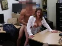Amateur with hot gazoo taking part in hardcore sex video in office