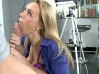 Milf Tanya Tate with hot huge tits in dick sucking porno action