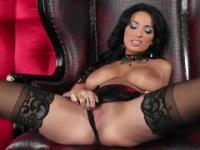 Beauty Anissa Kate with hot big titties in porno action