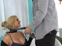 Milf is acting in blowjob porn