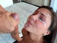 Playgirl is acting in cumshot adult video