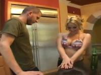 Throat banging Sarah Vandella taking part in blowjob porn scene