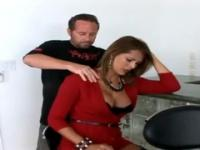 Monique Fuentes with hot huge boobs taking part in porn scene