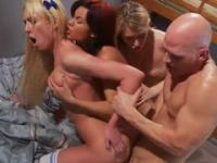 Victoria White, Katie Summers and Ruby Knox in amazing hard core group porn video
