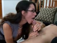 Deep-throating milf in dick sucking xxx action
