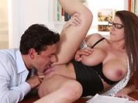 Mature Brooklyn Chase with hot tiny tits is acting in sex movie