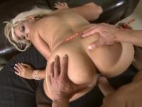 Blonde milf Bridgette B with hot huge boobs taking part in porno movie