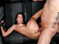 Brunette cock-lover July Sun starring in German porn