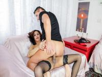 Brunette tranny Natalia Rodriguez getting fucked by hard cock