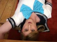 Japanese school uniform - self facial