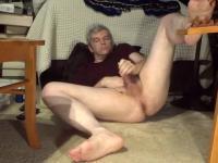 Spread leg jerkoff