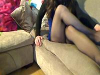 Tights Pantyhose on the sofa