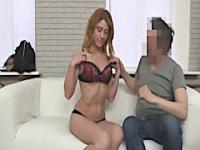 Redhead with big ass first time audition