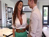 Big boobed milf ariella ferrera fuck and facial