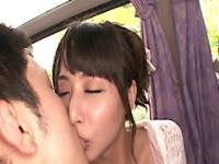 Hot japanese group orgy on a bus