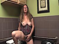 Jade's public rest room orgasm