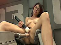Raven rockette gets fucked using a robot